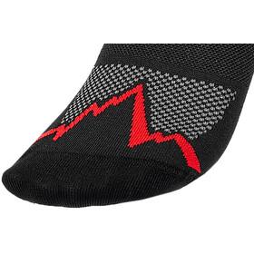 La Sportiva Trail Running Socks, negro/rojo